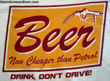 Beer, now cheaper than petrol