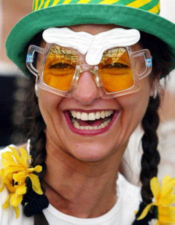 Woman with beer goggles
